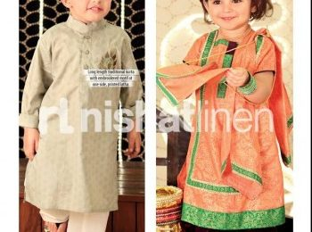 Nishat Linen Eid Collection 2021 for Kids