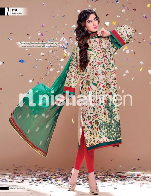 Nishat Linen Eid pret collection 2013 with Prices