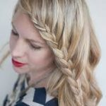 Curly Hairstyle with A French Braid Fringe