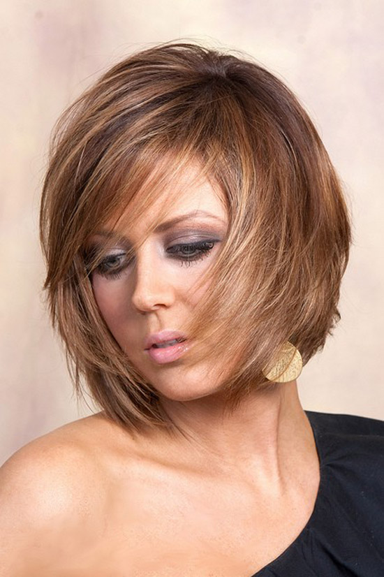 For thick hair short layered hairstyle - styloss.com