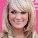 With Bangs Layered Hairstyles Round Face Shape