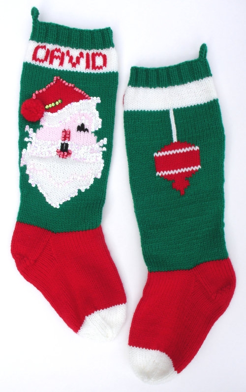 christmas stocking knitting pattern circular needles ...