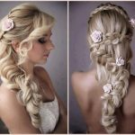 With Flowers Long Hairstyles for Wedding
