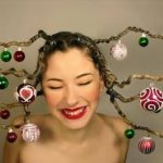 Hairstyle of Christmas Tree