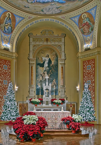 christmas decorating ideas for church sanctuary - Christmas Decorating Ideas For Church Sanctuary