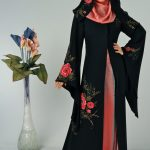 stylish abaya scarf wearing styles