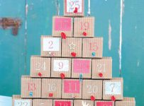 pottery barn christmas tree advent calendar