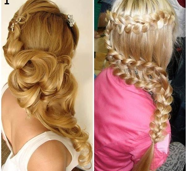 fishtail braid ponytail with weave