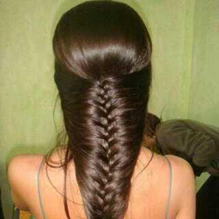 fishtail braid with synthetic hair