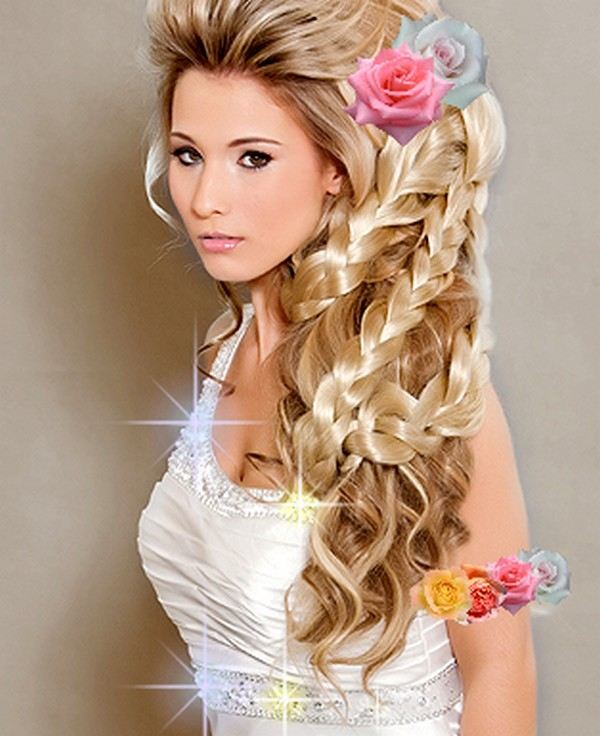 Wedding Hairstyles for Long Hair with Braids and FlowersWedding Hairstyles For Long Hair With Flowers Braid