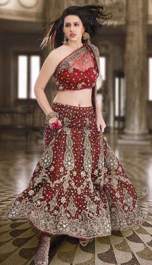 Latest indian bridal lehenga choli collection 2018 for Indian wedding dresses for bride with price