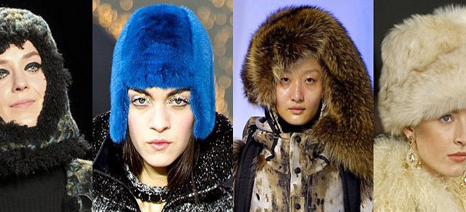 Winter fur hats for women