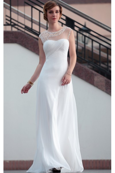 White Prom Dresses 2014 with Sleeves