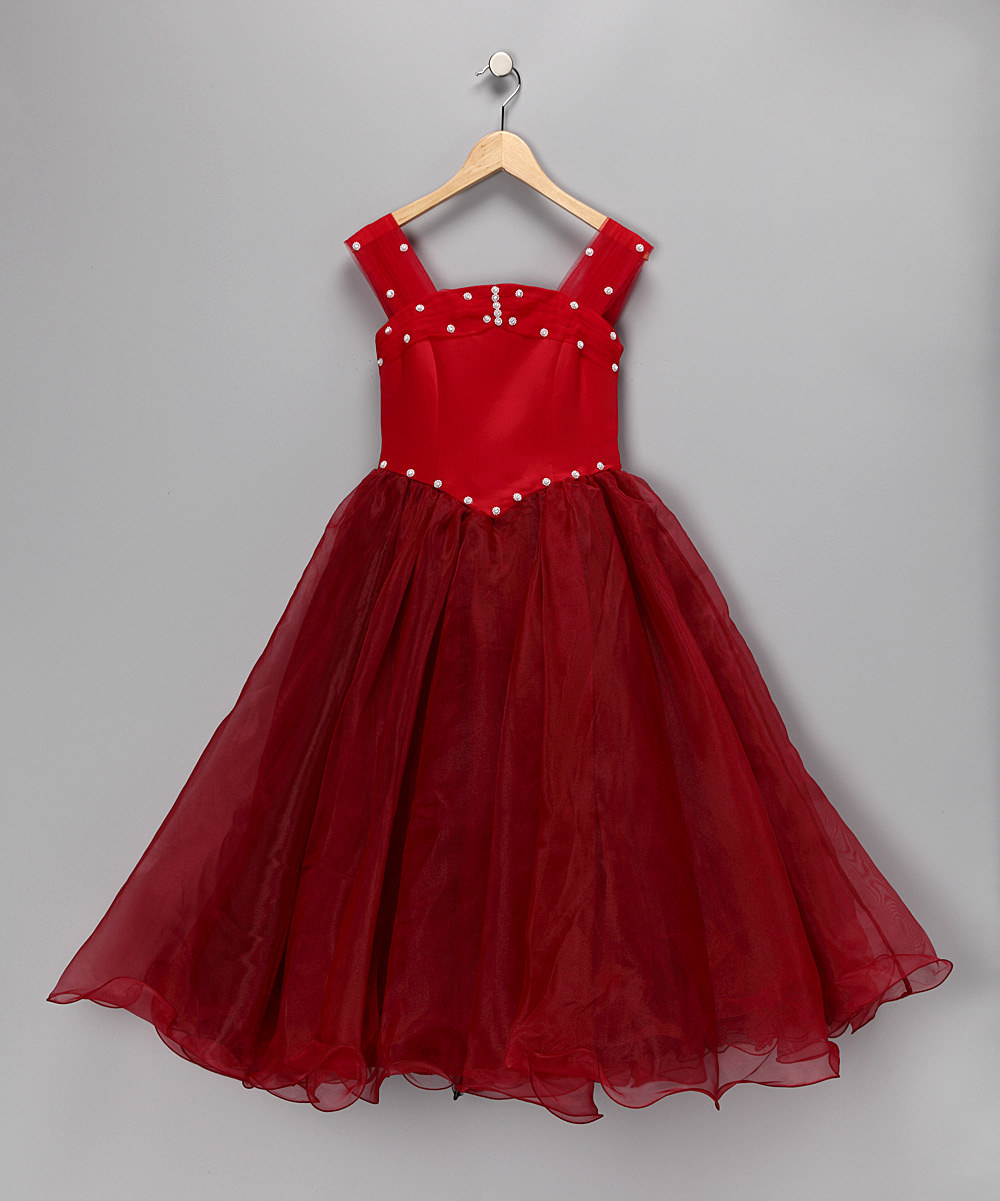 Dazzling red christmas dress for toddler and little girls
