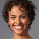 Short curly hairstyle of black women