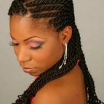 African American one Braid Hairstyles For Girls