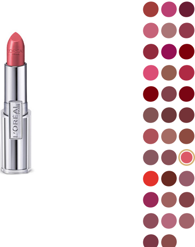 Color Chart  of L'oreal Lipstick