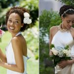 Cascading curls African Bridal Hairstyles