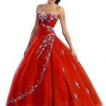 red colored wedding gowns plus size