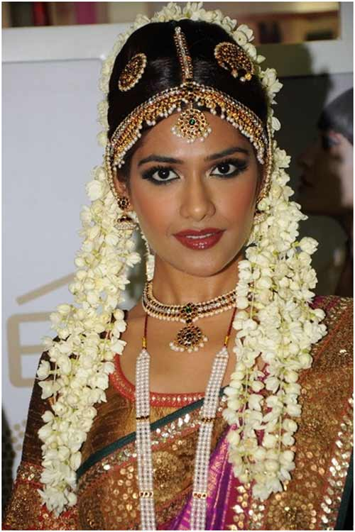 South Indian Wedding Bridal Hairstyles For Long Hair
