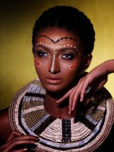 Female, Male African Tribal Make up