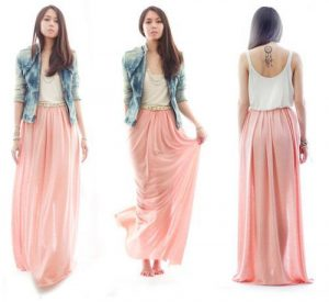 Long Flowing Skirt Pattern Designs