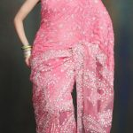 With Saree best Hairstyles for Engagement