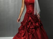 red bridal party dresses