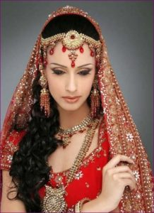 Hair Styles for Indian Bridal with long hairs
