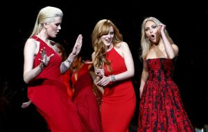 Red dresses of ARON ROSE