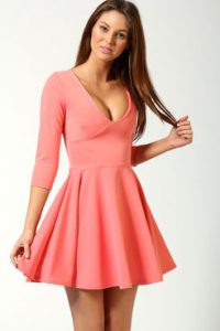 Skater Dresses with Long Sleeve