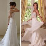 Bridal Wedding Prom Gowns Backless Chiffon