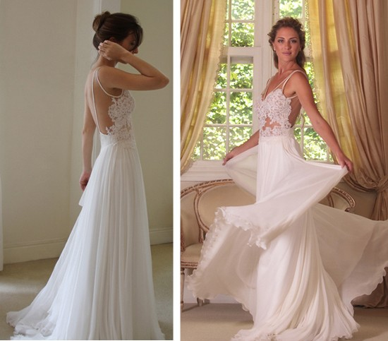 Bridal Wedding Prom Gowns Backless Chiffon Styloss