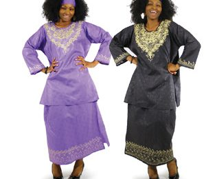 Embroidered Long Sleeve African Dresses Designs for Ladies