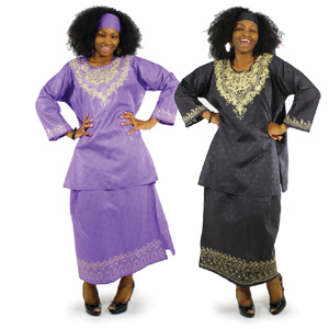Long Sleeves Dress African Embroider