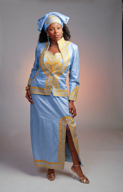 Long Sleeves Dress African Embroider - styloss.com