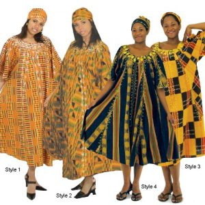 Kente Scarf with Kaftan Dresses Designs