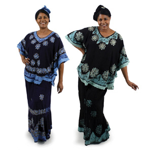 Batik Poncho Skirts Set  African Dresses for Women