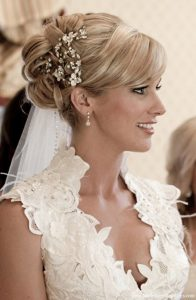 Vintage Wedding Hairstyles with Veils