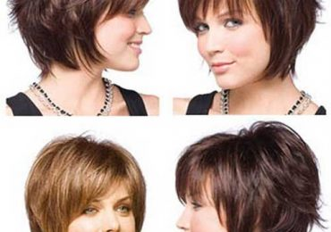 Short Stacked bob Hairstyles with Bangs Pictures