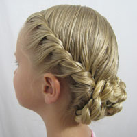 Curly Hairstyle Half Up Half Down Twisted Sides