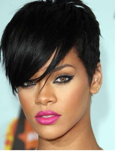 Rihanna Short Hairstyles Front And Back View