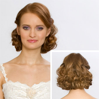 Vintage Wedding Hairstyles with Veils for Medium Length Hair