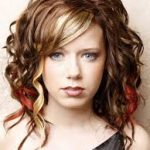Medium Length Curly Hairstyle for party