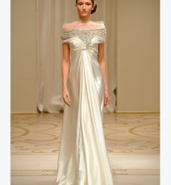 Reem Acra Beaded and Embroidered Tulle Gown Collection