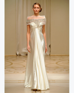 Beaded and Embroidered Tulle Gown of Reem Acra