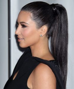 High Sleek Ponytail Hairstyles of Kim Kardashian