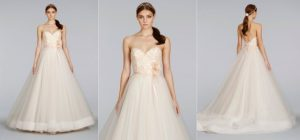 Reem Acra Gown with Lace Back Beaded Cap Sleeve