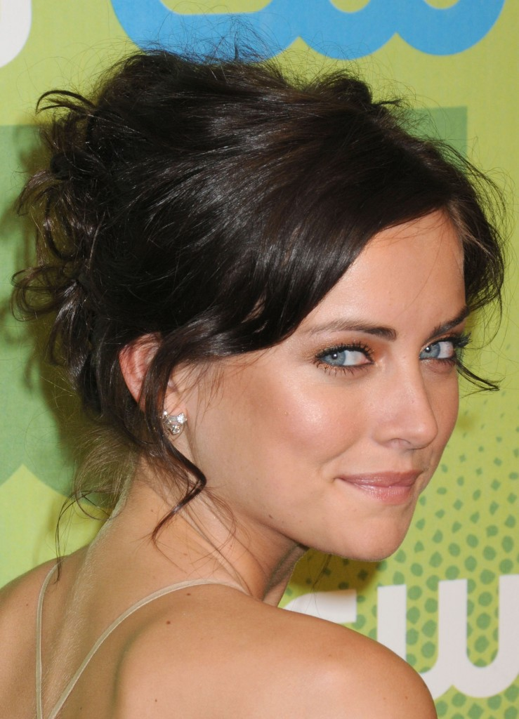 With Bangs Braids Fringe Messy Updo Hairstyles Styloss Com