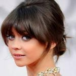 With Bangs, Braids, Fringe Messy Updo Hairstyles
